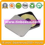 A caixa retangular do estanho de DVD para miúdos, Metal a caixa CD do estanho
