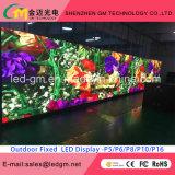 Pantalla al aire libre de Digitaces LED de la electrónica, calle que hace publicidad de la visualización de LED P20