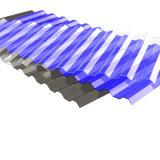 塗られる長いスパンカラーのためのポリカーボネートの紫外線上塗を施してある固体波形シート