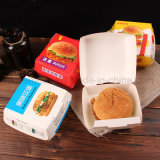 Impresión a todo color Personalizada Eco-Friendly Hamburger / Food Packaging Caja plegable