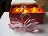 Cisne cristalino popular caliente para el regalo de boda
