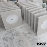 Controsoffitti prefabbricati bianchi sintetici della cucina della pietra del quarzo