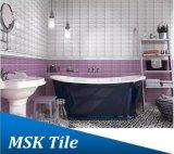75X150mm Regentropfen-purpurrote glasig-glänzende keramische Untergrundbahn-Fliese