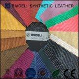Cuero colorido del Faux de la PU del diseño de la manera para la tapicería del equipaje y de la maleta