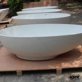 ホテルのための樹脂の石造りの軸受けの固体表面の浴槽