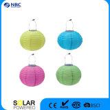 Lanterna solar colorida do globo chinês