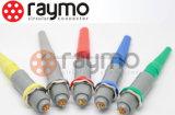 Conector médico circular del Pin del Pin 8 del Pin 6pin 7 del Pin 5 del Pin 4 del Pin 3 de Pkg 2 del socket fijo plástico