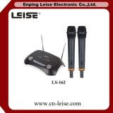 Ls-162 dual - microfone do rádio do VHF do karaoke da canaleta
