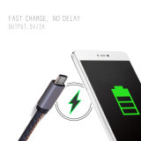 Nilón material los 3FT/4FT del vaquero cable de carga rápido del USB de 8 datos del Pin para iPhone6 6s 7 Samsung