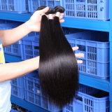 Las extensiones agradables/derecho del pelo humano de la calidad tejen el pelo del indio de la Virgen de los manojos