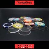 El póker del casino dedicó el plástico de acrílico Chipsmodel separado Ym-Tg01