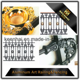 Im Freien dekorative Aluminiummetallroheisen-Zaun-Verzierungen für Garten-Dekoration