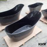 Vasca da bagno indipendente di superficie solida nera moderna semplice di Kkr (BT1705123)