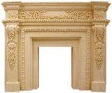 Cornija de lareira da chaminé da escultura do Sandstone do estilo de Europa para as decorações Home