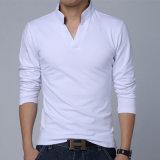 95綿5枚のスパンデックスの立場カラー細い適合のポロシャツ