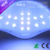 De la manera alta Sun5 LED lámpara ULTRAVIOLETA de gran alcance del clavo del diseño