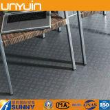 Azulejo de suelo del PVC del garage del efecto del metal