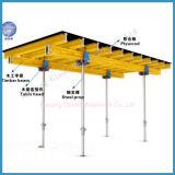 平板の構築のための鋼鉄支柱の合板が付いている表の型枠