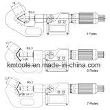 85-105mmx0.001mm 5개의 플루트를 가진 전자 V 모루 마이크로미터