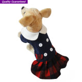 Roupa inglesa maravilhosa do cão dos estilos do vestido do animal de estimação
