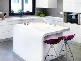 Surface solide acrylique de marbre artificielle du blanc 12mm de matériau de construction (GMA13)