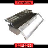 2 - Caja de bronce de la viruta de póker del casino del metal de la bandeja de la viruta de la capa con el bloqueo Ym-CT01