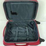 耐久の赤い洗濯機のしわファブリックトロリー袋、習慣は車輪が付いている偶然旅行荷物袋を作る