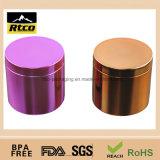 Frasco plástico do pacote da nutrição da cor de Metalization com tampa dos PP