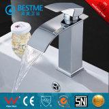 Mélangeur de bassin de robinet de cascade à écriture ligne par ligne de bonne qualité pour la salle de bains