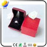 Caixa mais barata especial do anel da qualidade superior da forma com luz do diodo emissor de luz