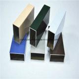 Анодированная разноцветная экструдированная алюминиевая квадратная труба / труба