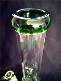 AA039 de grote Rokende Pijp van het Glas met de Blauwe Kam van de Honing