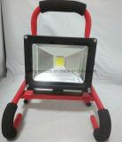 방수 휴대용과 재충전용 20W 8h LED 투광 조명등 IP65