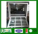 Окно алюминиевого профиля высокого качества одиночное повиснутое сделанное в Китае