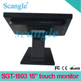 5 relação Resistive do monitor VGA/USB da tela de toque do fio