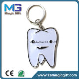 Fördernder kundenspezifischer Metallschürhaken Keychain mit Samt-Beutel-Beutel-Verpackung