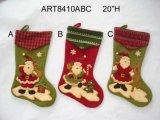Medias de la Navidad de Santa, decoración 3asst-Christmas