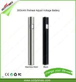 2017 좋은 판매 OEM 기화기 펜 510 스레드는 조정가능한 전압 두꺼운 기름 건전지를 미리 데운다