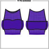 Weiblicher Gymnastik-Sport-laufende Trägershirt-Yoga-Gymnastik-Weste