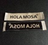 Escritura de la etiqueta tejida damasco de la alta calidad de la ropa de la ropa