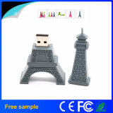 Memória Flash do USB da torre Eiffel da movimentação do flash do USB da excursão de Paris