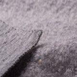 Tela de las lanas/de algodón para la capa del invierno en gris