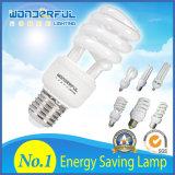 De lumière spiralée économiseuse d'énergie bon marché d'économie d'énergie de lampe/lotus de tube ampoule/T3/T4/T5 DEL CFL de la vente en gros 2u/3u/4u de constructeur pleine demi