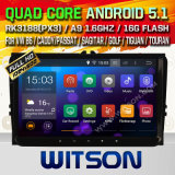 Carro DVD do Android 5.1 de Witson para VW B6/transportador/Passat com retrato da pia batismal DVR do Internet da ROM WiFi 3G de Rockchip 3188 1080P 16g do núcleo do quadrilátero no retrato (W2-F9249V)