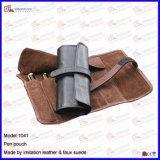 Sostenedor de cuero de lujo de la pluma, bolso decorativo de la pluma de la venta al por mayor (1111R2)
