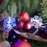 Шнур светов снежинок украшения AA эксплуатируемый батареей освещает синь