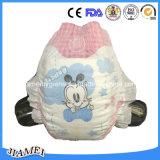 綿の表面との使い捨て可能な赤ん坊のおむつの極度心配