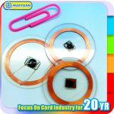de 13.56MHz ISO15693 del PVC I pequeña RFID etiqueta del CÓDIGO SLI para industrial