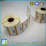 Costumbre papel barato de impresión auto-adhesivo de la etiqueta engomada