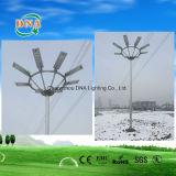 Integrar la lámpara de calle de energía solar del sensor de movimiento LED